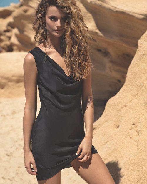 Gottex Black Dress with Drapery