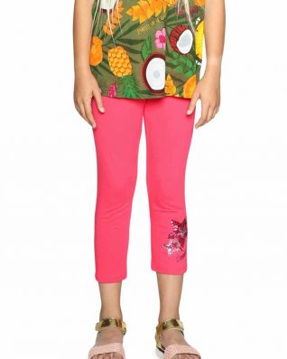 18SGKK10_3022 Desigual Leggings Floral Buy Online