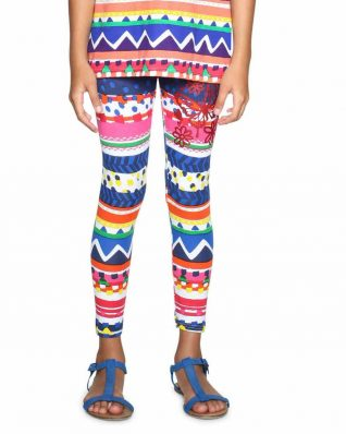 18SGKK12_3092 Desigual Girls Leggings Mashmallow Buy Online