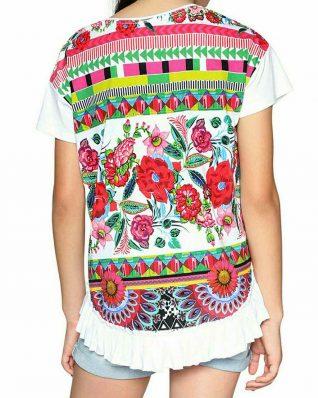 18SGTK36_1000 Desigual Girls T- Shirt Nevada Canada