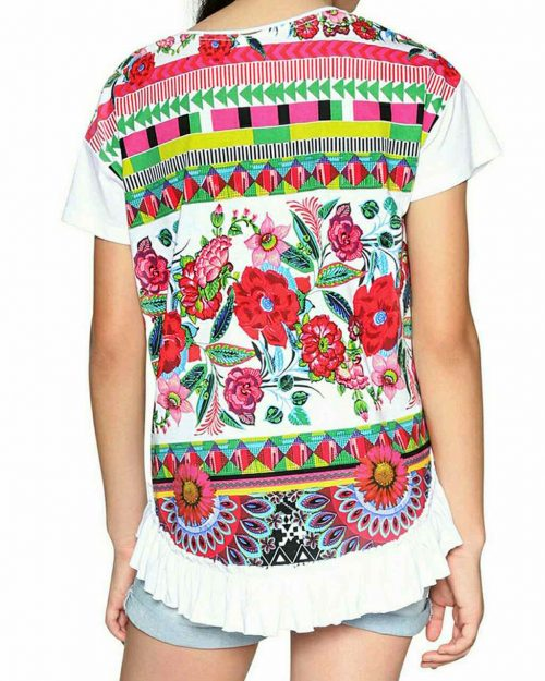 18SGTK36_1000 Desigual Girls T- Shirt Nevada Canada
