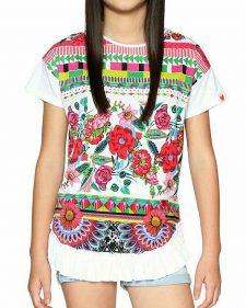18SGTK36_1000 Desigual Girls T- Shirt Nevada Buy Online