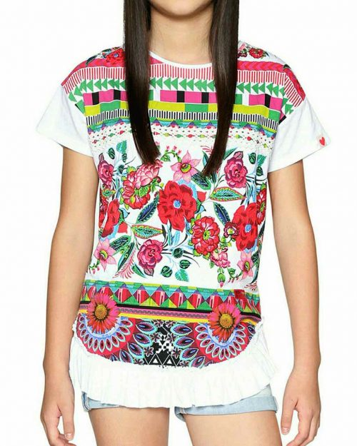 18SGTK36_1000 Desigual Girls T- Shirt Nevada Buy Online