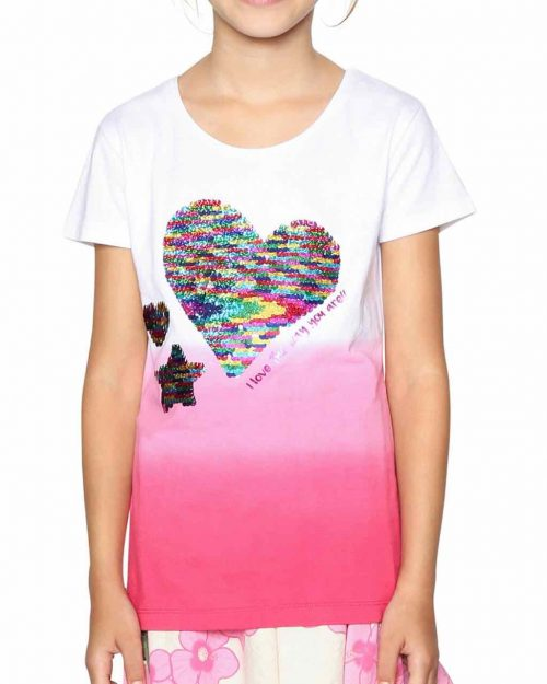 18SGTK61_3022 Desigual Girls T-Shirt Alberta Buy Online
