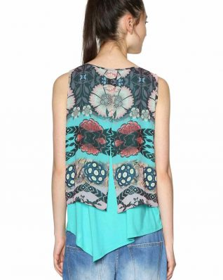 Desigual Layered Blouse Summer 2018