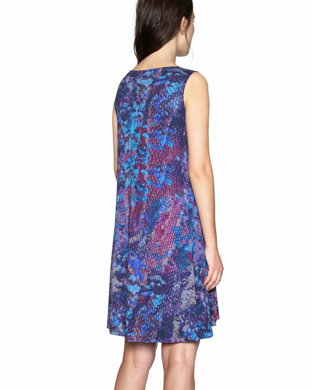 Desigual Dress Eric 18swvka9 Blue Buy Online Canada Usa