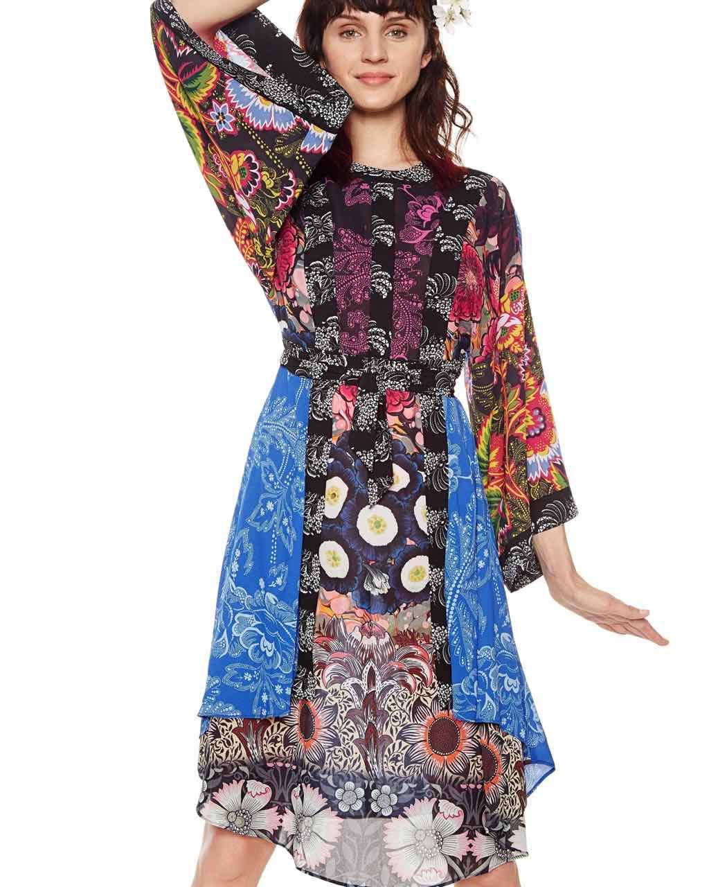 DESIGUAL Kimono Dress MACARENA 18SWVWAR   Buy Online