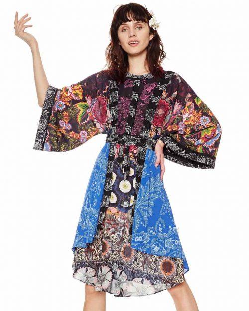 Desigual Kimono Dress Macarena
