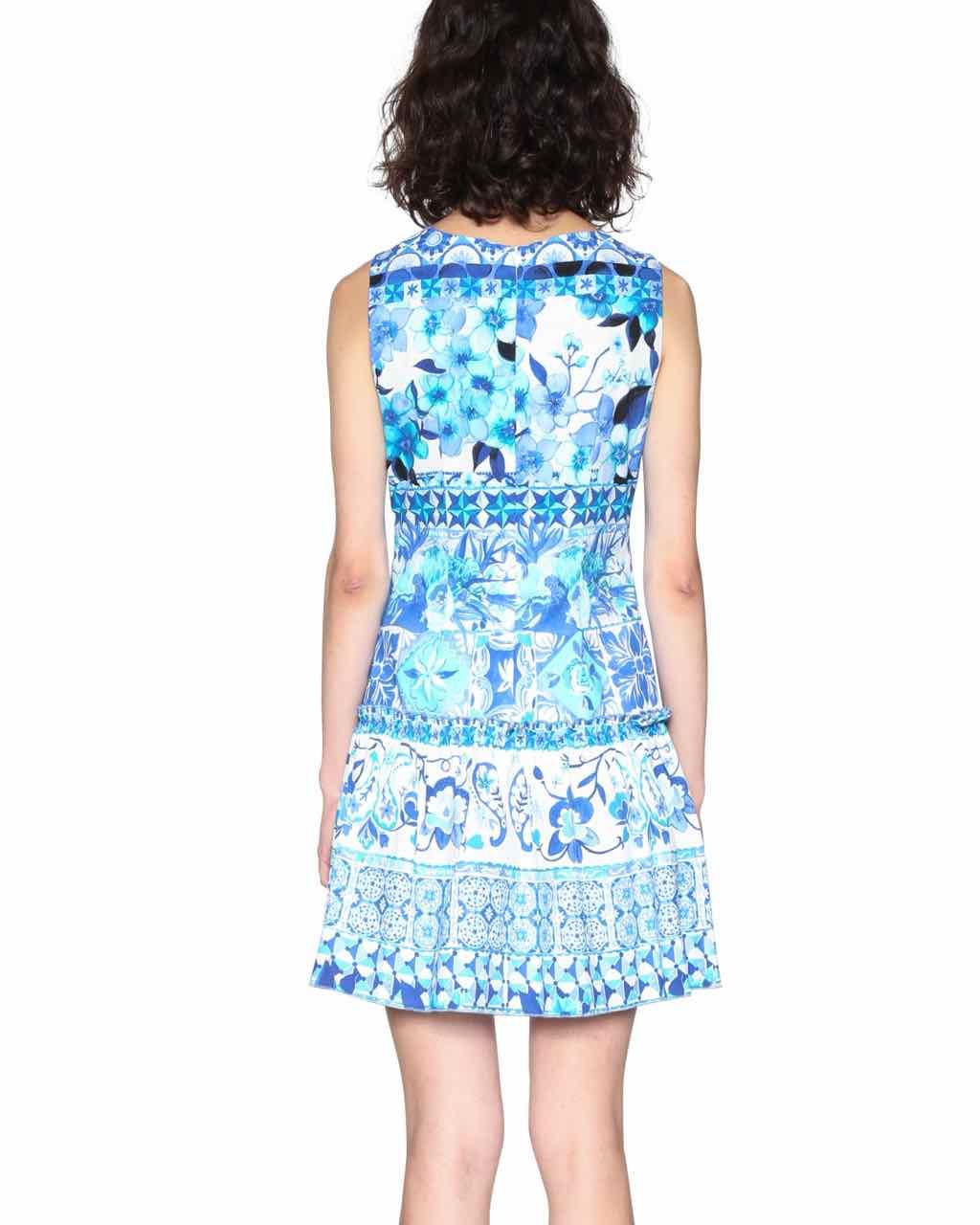 cd44bc45848a DESIGUAL Summer Dress EFFIE 18SWVWCI Blue