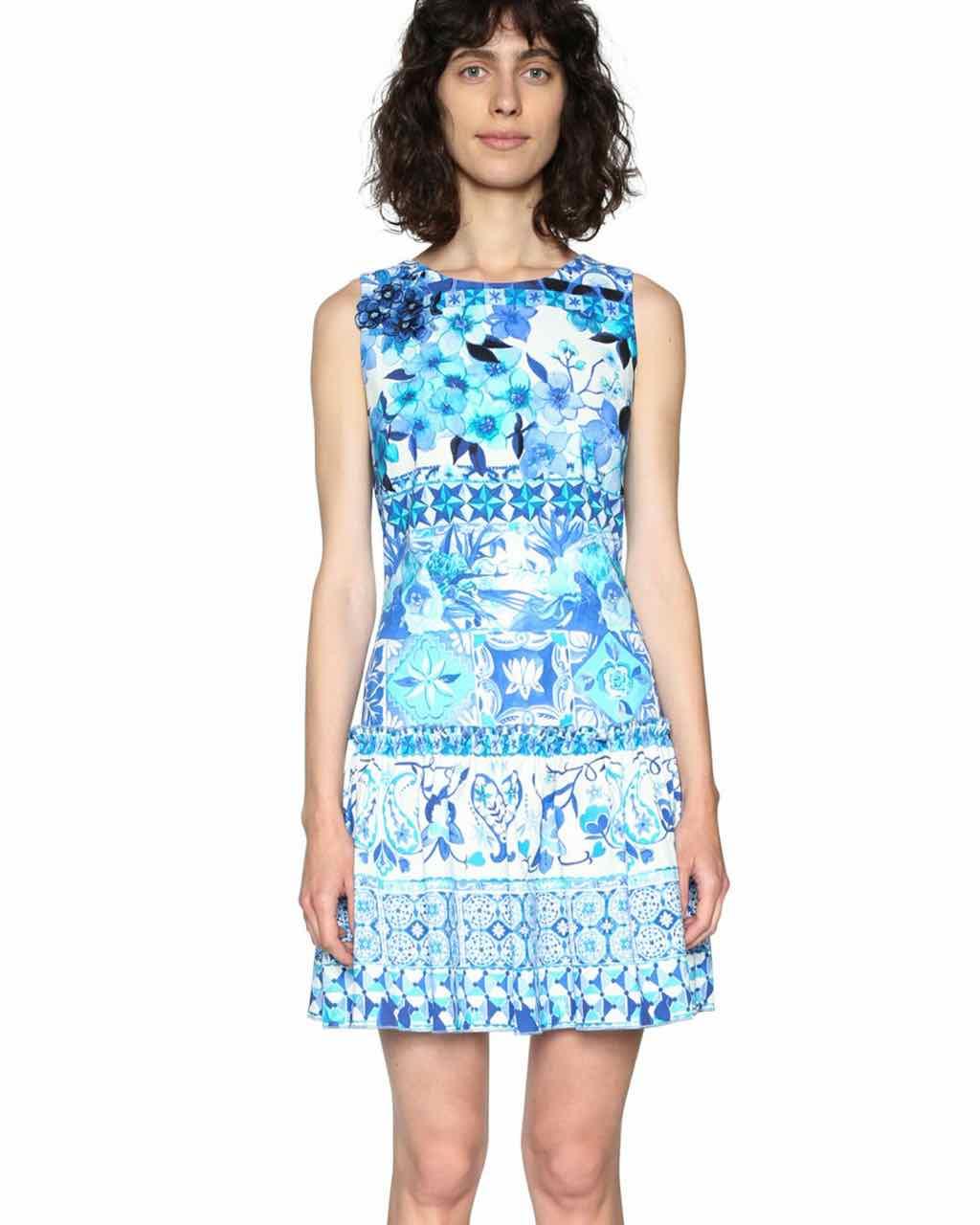 DESIGUAL Summer Dress EFFIE 18SWVWCI Blue  1df16abff