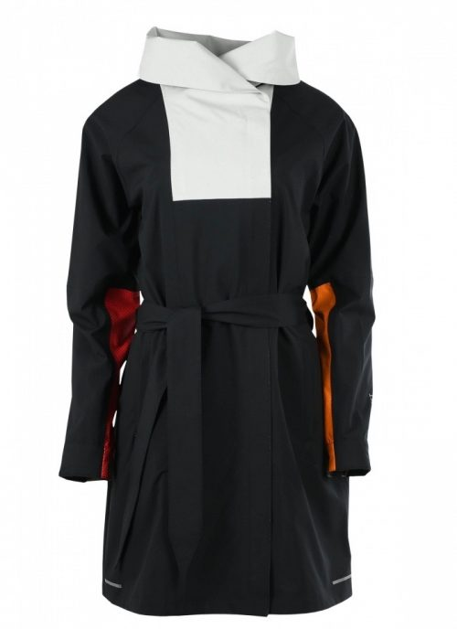 Blaest Black White Rain Coat