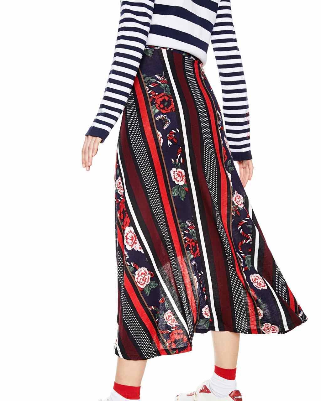 Desigual Long Skirt Summer 2018