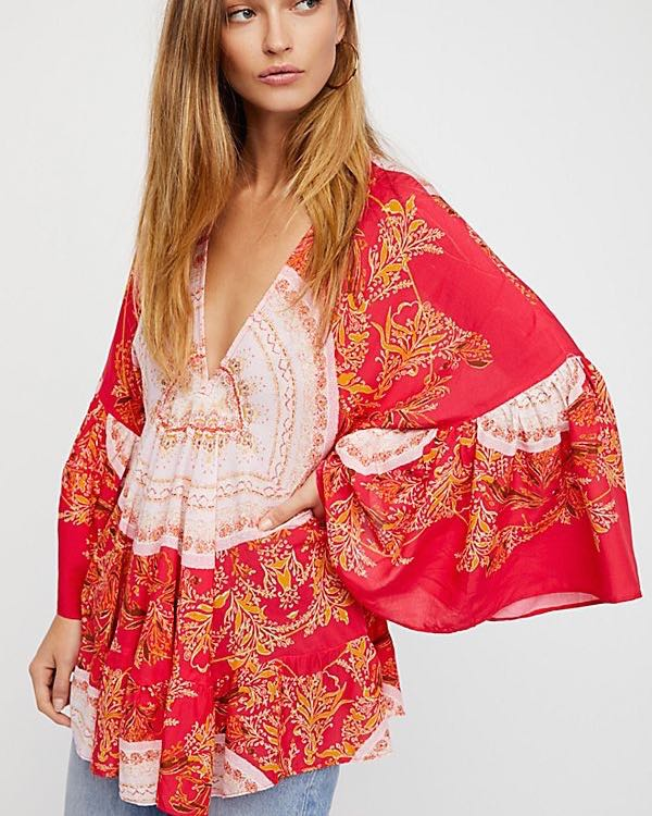Free People Sunset Dreams Red