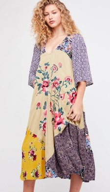 Free People River Market Midi Dress