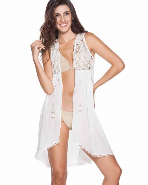 OndadeMar White Lace Coverup