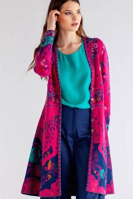 IVKO Long Jacket Floral Pattern