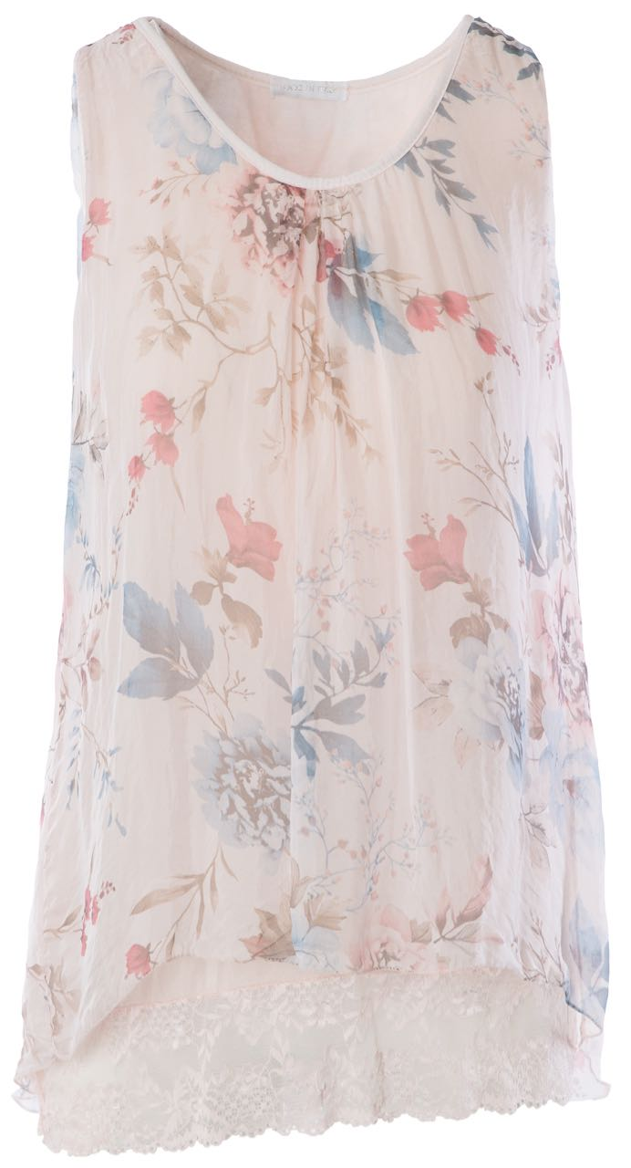 M Made In Italy Silk Sleeveless Top Day Dream Buy Online
