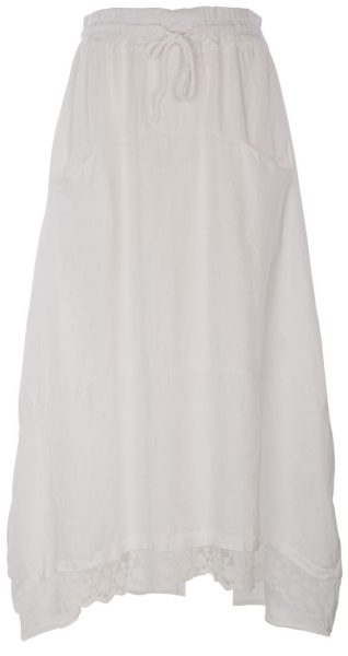 M Made in Italy White Linen Skirt