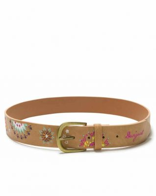 Desigual Belt with Embroidery