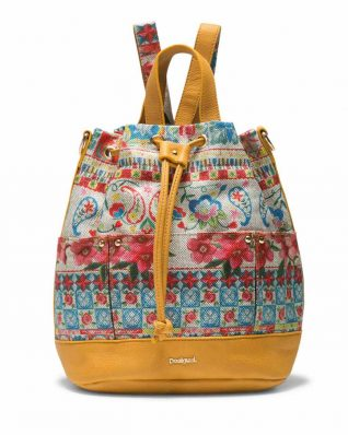 Desigual Yellow Backpack