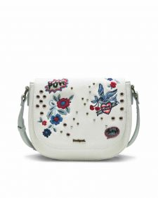 Desigua White Varsovia Bag with embroidery