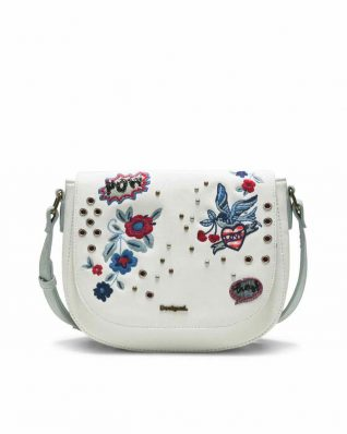 Desigua White Varsovia Bag with embroidery