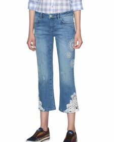 Desigual Ankle Denim Pants