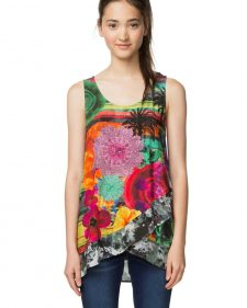 Desigual Summer T-Shirt in Colourful Design