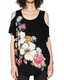 Desigual Top Cutout Shoulder