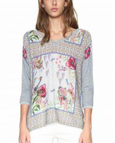 Desigual Grey Floral Top