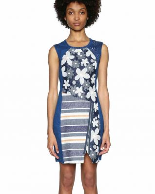 Desigual Asymmetric Dress with Daisies