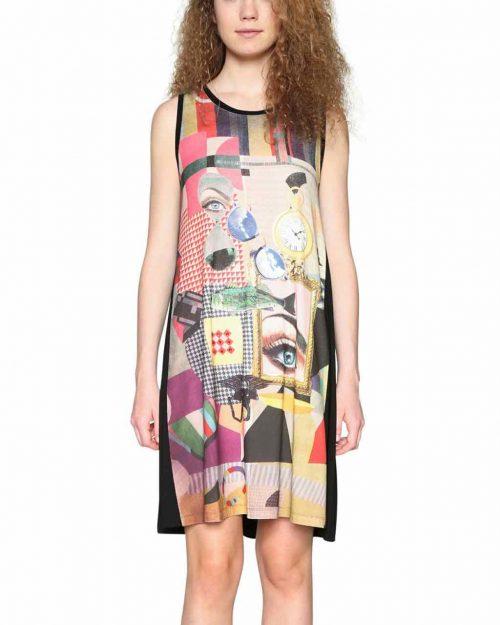 Desigual Modern Print Dress