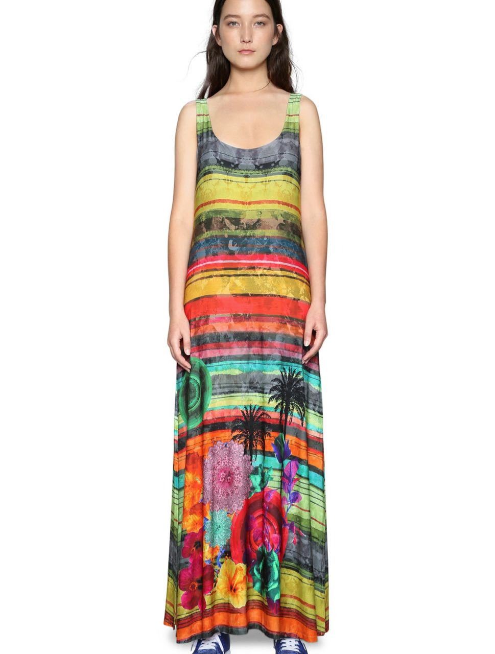 4f88af69988 DESIGUAL Maxi Dress LAUREN 18SWVK85 Colourful Stripes