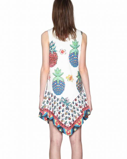 Desigual White Pineapple dress