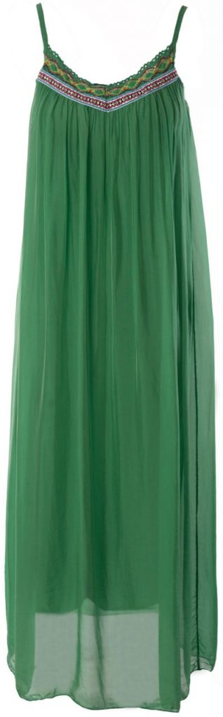 M Made in Italy Green Summer Dress