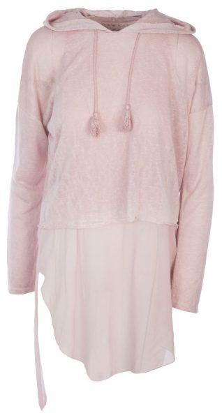 M Made in Italy Pink Tunic with Hood