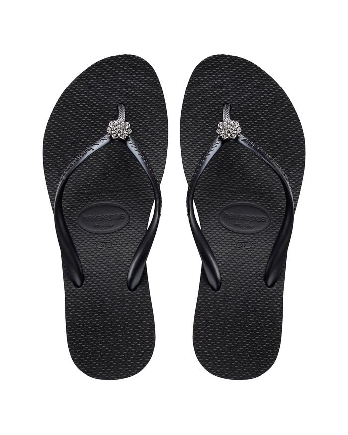 031d02bf6 Havaianas Wedge Flip Flops High Fashion POEM Black