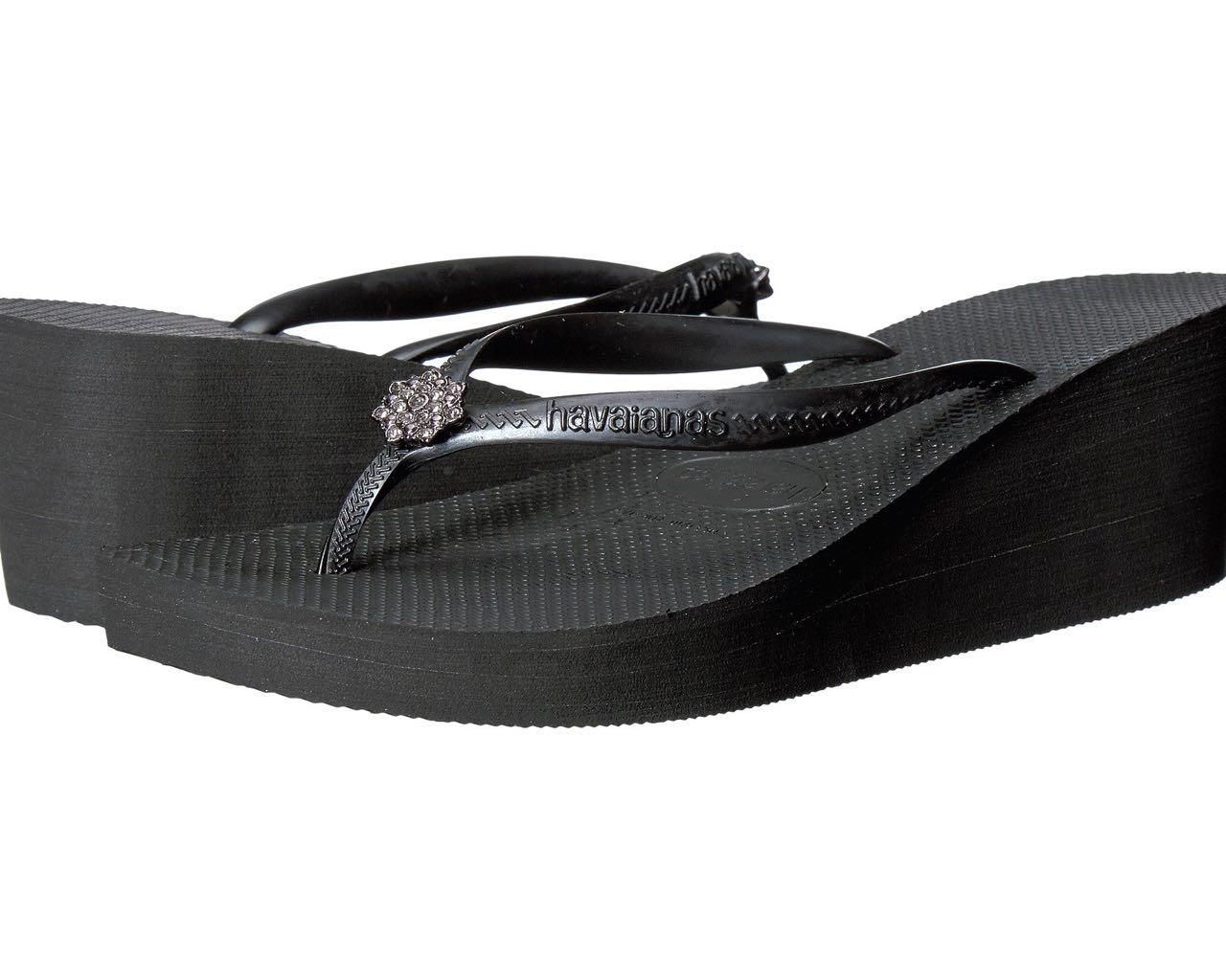 f34bc84c3abe92 Havaianas Wedge Flip Flops High Fashion POEM Black