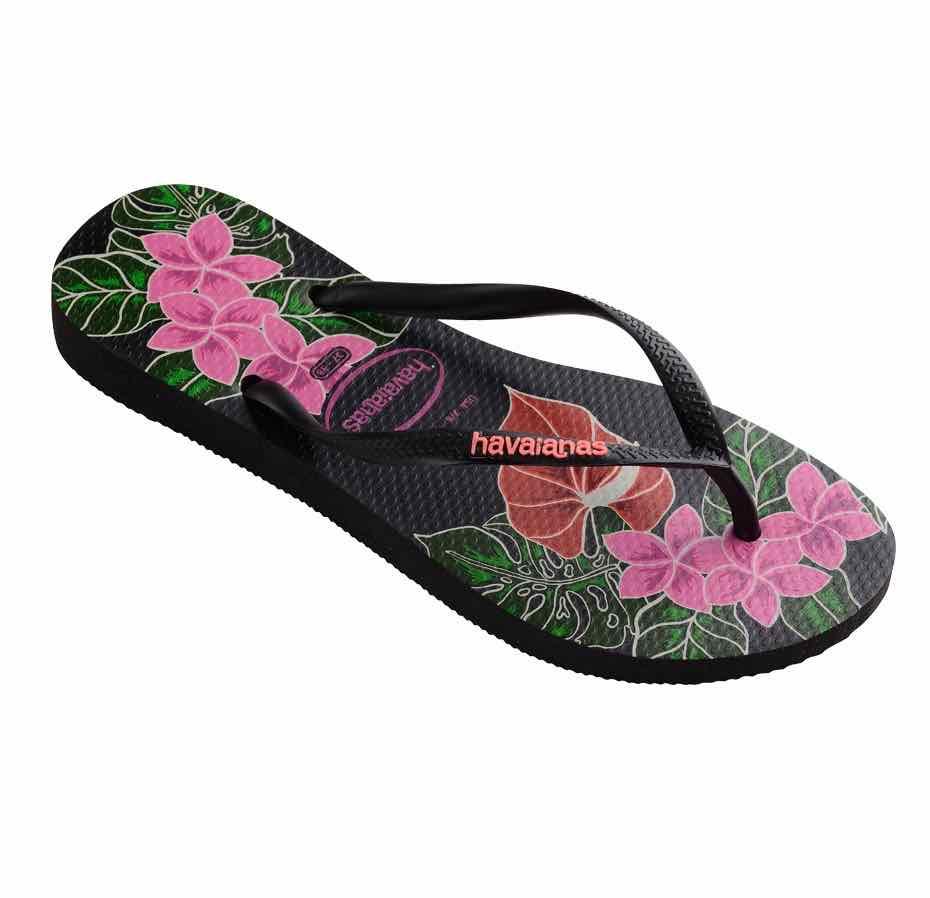 ef0d2a6287d01 Havaianas Slim Floral Sandals. Havaianas Black Floral