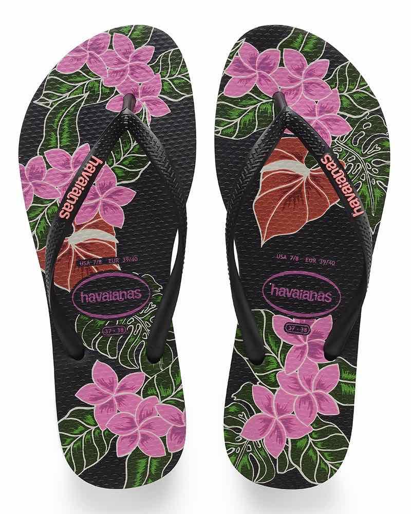 c7db374f67cb8c Havaianas Slim Floral Sandals. Havaianas Black Floral
