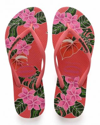Havaianas Slim Floral Red