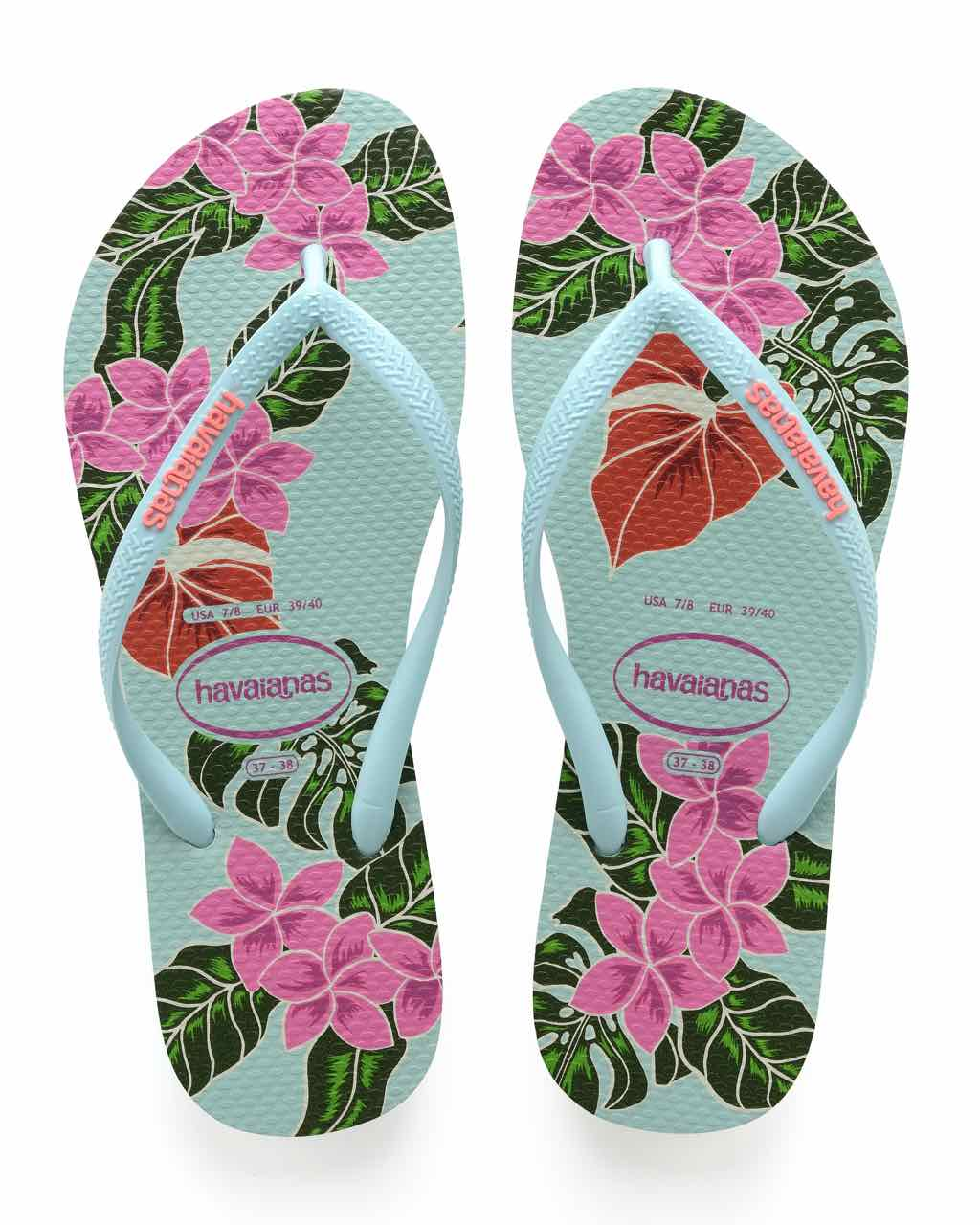 a4365013e Home WOMEN Shoes and Boots Return to previous page. Sale. Havaianas Slim  Floral. Havaianas Green Pink