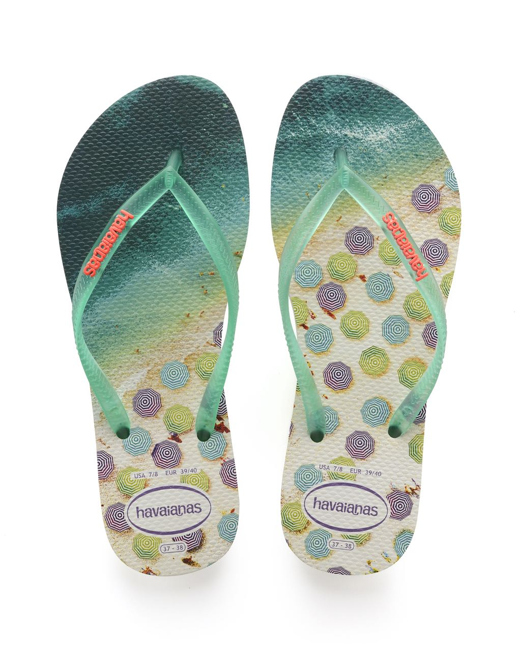 d98c3be9e Havaianas Flip Flops Slim Paisage Sandals (mint green)