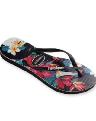 Havaianas Slim Floral tropical Black