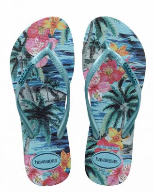 Havaianas Slim Tropical blue