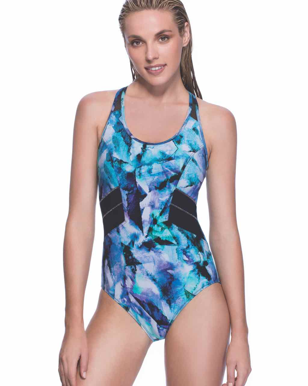 daec5bd047d Profile Gottex Sport Swimsuit Moonstone Blue I Buy Online | USA CANADA