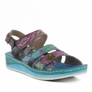 L'Artiste by Spring Step Blue Sandals