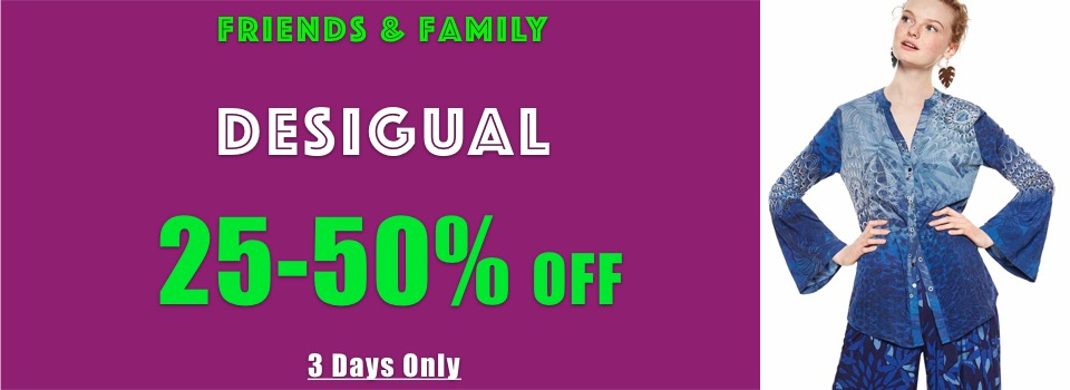 Desigual Flash Sale Friends and Family
