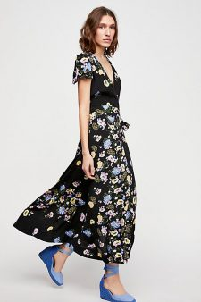 Free People Long Wrap Dress
