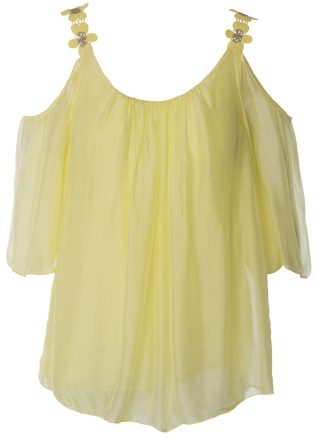 M Made in Italy Silk Summer Top